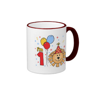 Lion Face First Birthday Coffee Mug