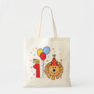 Lion Face First Birthday Tote Bag