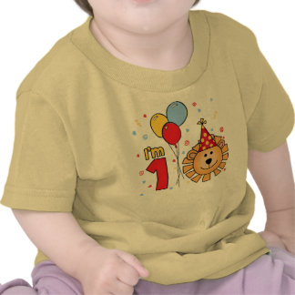 Lion Face First Birthday Shirts
