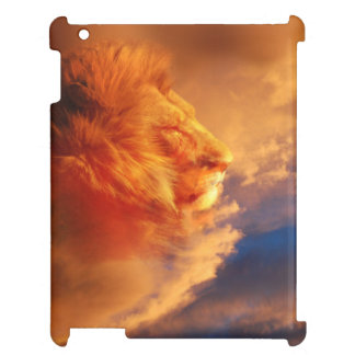 Lion face in sunset clouds cover for the iPad 2 3 4