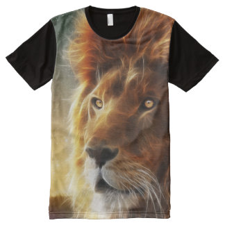 Lion face .King of beasts abstraction All-Over-Print Shirt