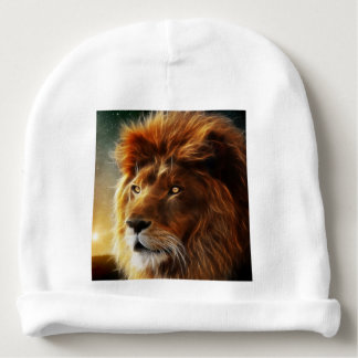 Lion face .King of beasts abstraction Baby Beanie