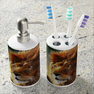Lion face  King of beasts abstraction Bath Set. Lion King Bath Sets   Zazzle
