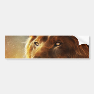 Lion face .King of beasts abstraction Bumper Sticker