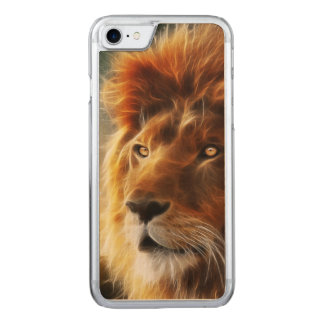 Lion face .King of beasts abstraction Carved iPhone 7 Case