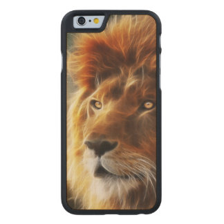 Lion face .King of beasts abstraction Carved® Maple iPhone 6 Case