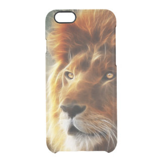 Lion face .King of beasts abstraction Clear iPhone 6/6S Case