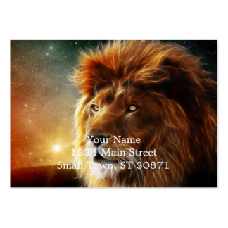Lion face .King of beasts abstraction Large Business Card
