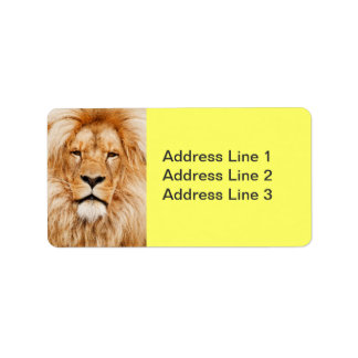 Lion Face Label Labels