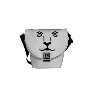 Lion face messenger bags