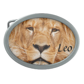 Lion Face Photograph Belt Buckles