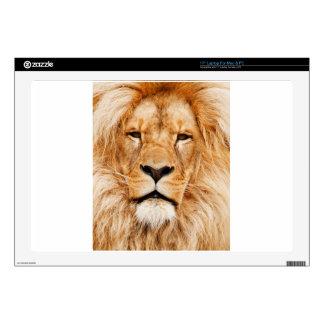 Lion Face Photograph Laptop Skins