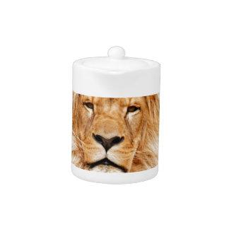 Lion Face Photograph Teapot
