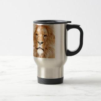 Lion Face Photograph Travel Mug