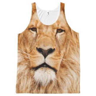 Lion Face Tank All-Over Print Tank Top