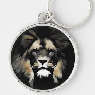 Lion Face Wildlife Keychain