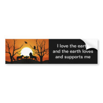 Lion family at sunset Africa Bumper Sticker