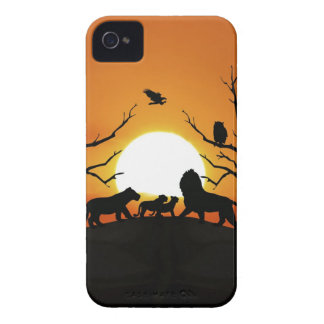 Lion family at sunset iPhone 4 cover