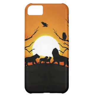 Lion family at sunset case for iPhone 5C
