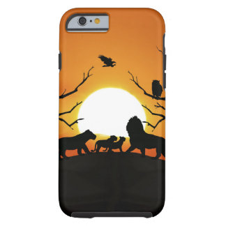 Lion family at sunset iPhone 6 case