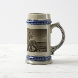 Lion Family Beer Stein