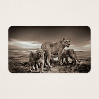 Lion Family Business Card
