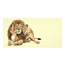 Lion Family Card