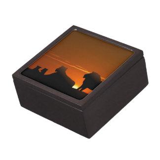 Lion Family Premium Keepsake Boxes