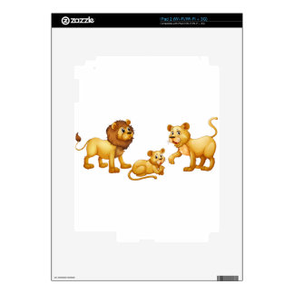 Lion family with cute little cub skin for the iPad 2