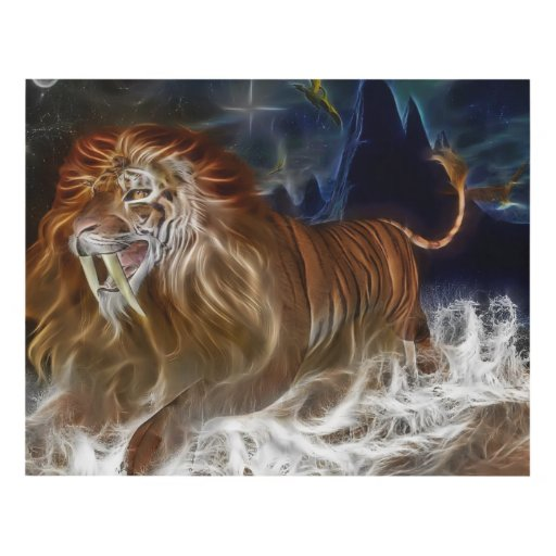 Lion Fantasy Custom Matte Wall Panel Art (14x11)