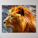 Lion fantasy Poster Print 20X16