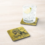 Lion Fighting Snake Coasters