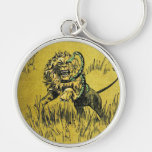 Lion Fighting Snake Key Chain