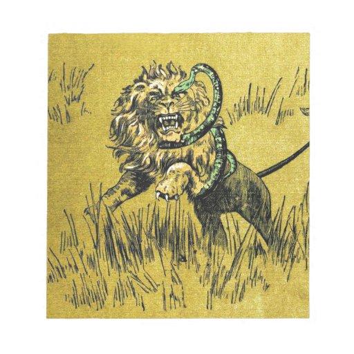 Lion Fighting Snake Memo Pads