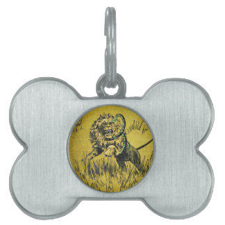 Lion Fighting Snake Pet ID Tag