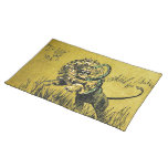 Lion Fighting Snake Place Mat