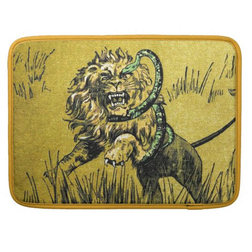 Lion Fighting Snake Sleeve For MacBook Pro