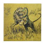 Lion Fighting Snake Tiles