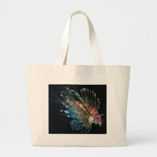 Lion fish tote bags
