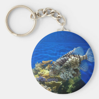 Lion Fish Basic Round Button Keychain