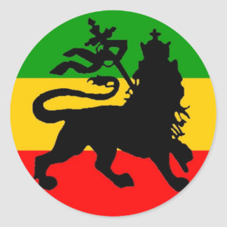 Lion Flag Classic Round Sticker
