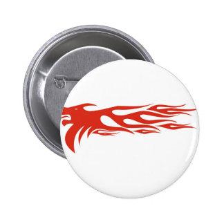 Lion Flames Button