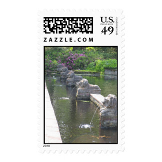 Lion Fountains Postage Stamp