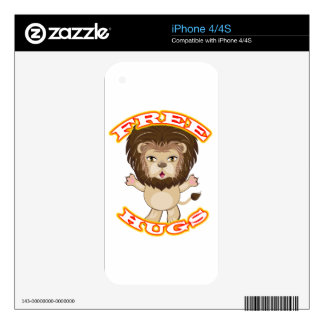 Lion Free Hugs Skin For The iPhone 4S