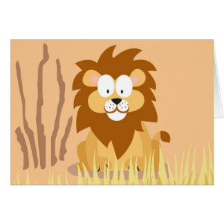 Lion from my world animals serie card