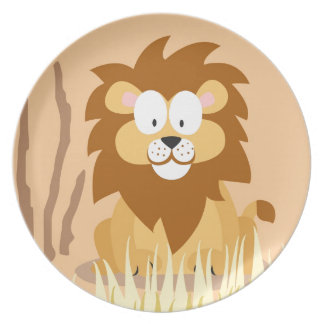 Lion from my world animals serie dinner plate
