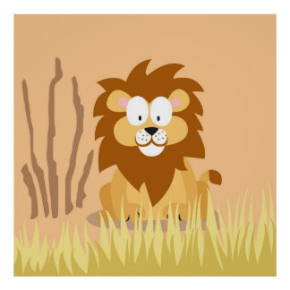 Lion from my world animals serie poster