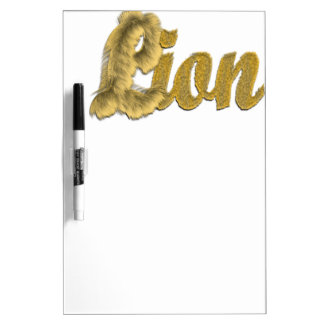 Lion - Furry Text Dry Erase Board