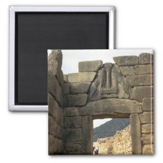 Lion Gate over the entrance 2 Inch Square Magnet
