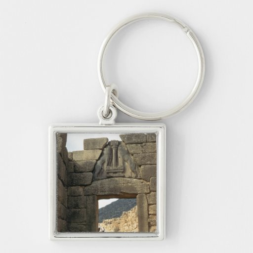 Lion Gate over the entrance Keychain